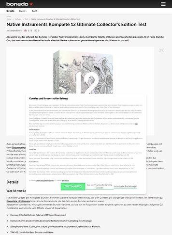 Bonedo.de Native Instruments Komplete 12 Ultimate Collector's Edition