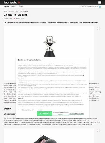 Bonedo.de Zoom H3-VR