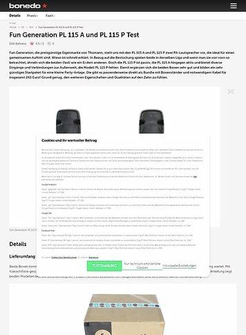 Bonedo.de Fun Generation PL 115 A und PL 115 P