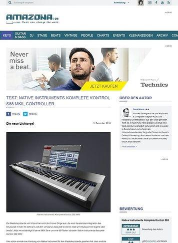 Amazona.de Native Instruments Komplete Kontrol S88 MKII