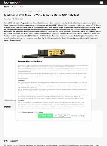 Bonedo.de Markbass Little Marcus 250 / Marcus Miller 102 Cab