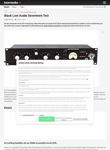 Bonedo.de Black Lion Audio Seventeen