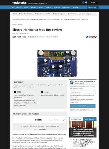 MusicRadar.com Electro-Harmonix Mod Rex