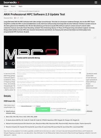Bonedo.de AKAI Professional MPC Software 2.3 Update