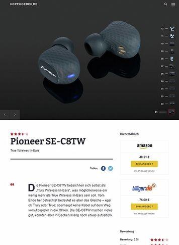 Kopfhoerer.de Pioneer SE-C8TW Black