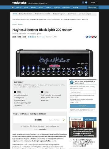 MusicRadar.com Hughes & Kettner Black Spirit 200