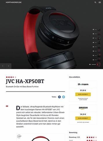 Kopfhoerer.de JVC HA-XP50BT-R XX