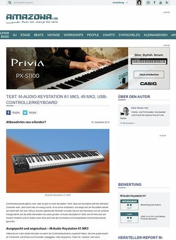 Amazona.de M-Audio Keystation 61 MK3, 49 MK3
