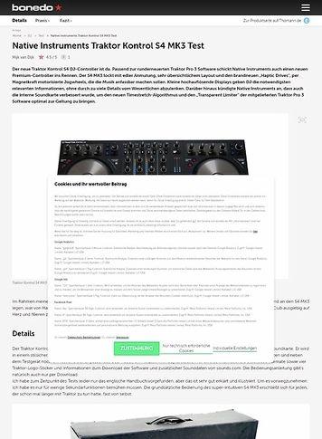 Bonedo.de Native Instruments Traktor Kontrol S4 MK3