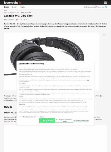 Bonedo.de Mackie MC-250