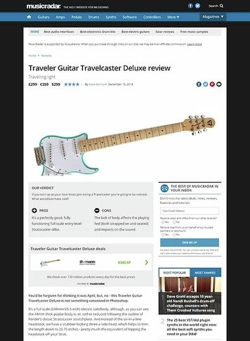 MusicRadar.com Traveler Guitar Travelcaster Deluxe