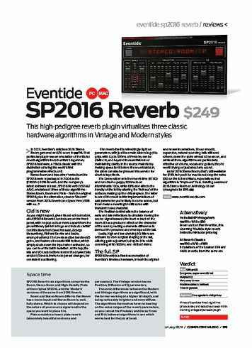 Computer Music SP2016 Reverb