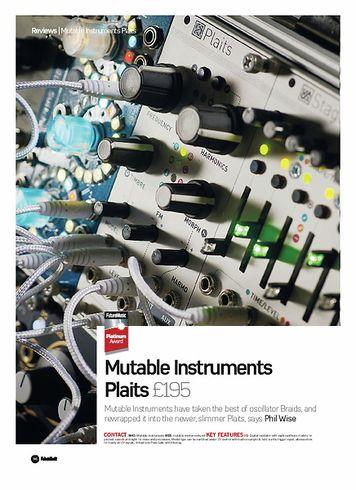 Future Music Mutable Instruments Plaits