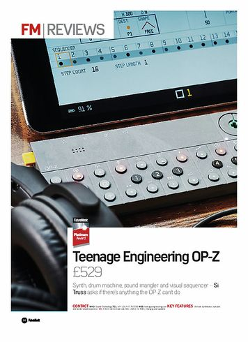 Future Music Teenage Engineering OP-Z