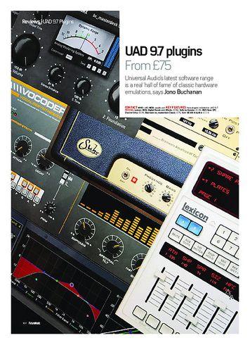 Future Music UAD 9.7 plugins