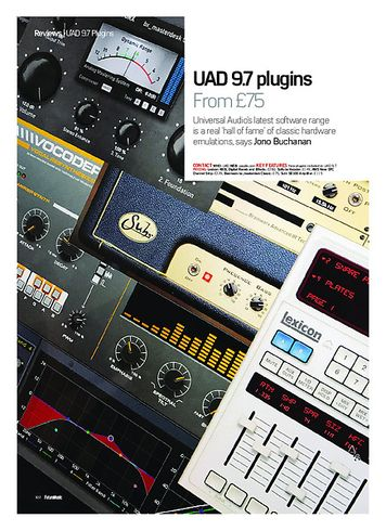Future Music UAD 9.7 plugins