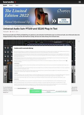 Bonedo.de Universal Audio Suhr PT100 und SE100 Plug-In