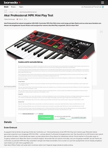 Bonedo.de Akai MPK Mini Play