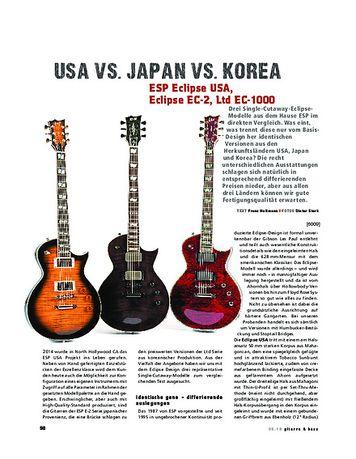 Gitarre & Bass ESP Eclipse USA, Eclipse EC-2, Ltd EC-1000, E-Gitarren
