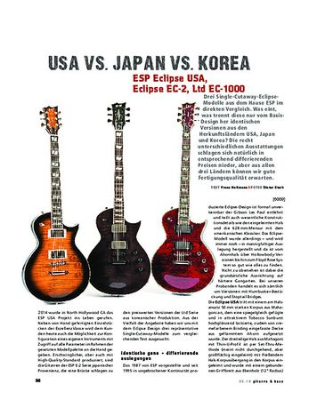 Gitarre & Bass ESP Eclipse USA, Eclipse EC-2, Ltd EC-1000, E-Gitarren