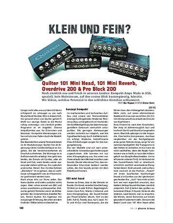 Gitarre & Bass Quilter 101 Mini Head, 101 Mini Reverb, Overdrive 200 & Pro Block 200