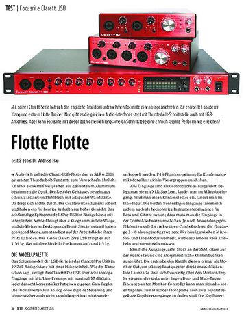 Sound & Recording Focusrite Clarett USB