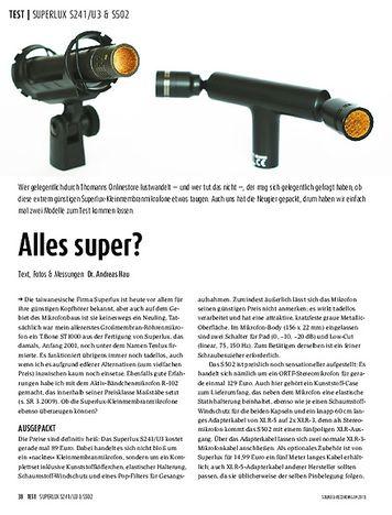 Sound & Recording Superlux S241/U3 & S502