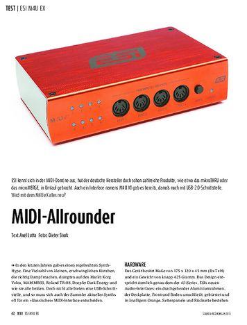 Sound & Recording ESI M4U eX