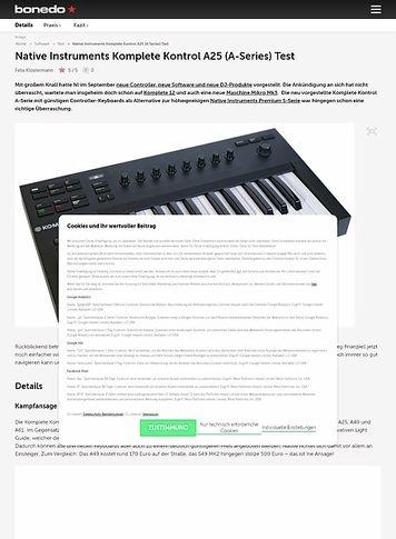 Bonedo.de Native Instruments Komplete Kontrol A25 (A-Series)