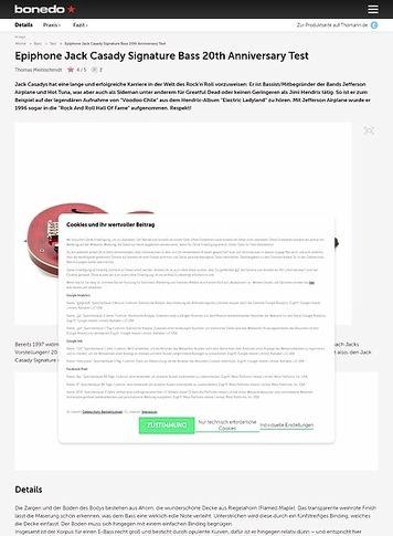 Bonedo.de Epiphone Jack Casady Signature Bass 20th Anniversary