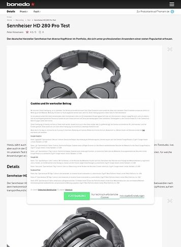 Bonedo.de Sennheiser HD 280 Pro