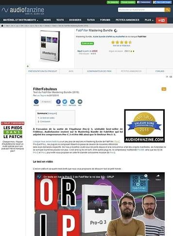 Audiofanzine.com FabFilter Mastering Bundle