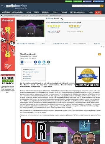 Audiofanzine.com FabFilter Pro-Q 3