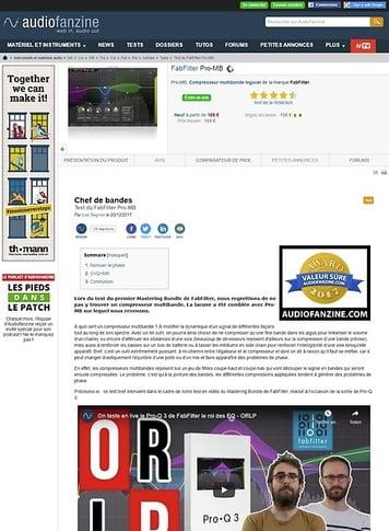 Audiofanzine.com FabFilter Pro-MB
