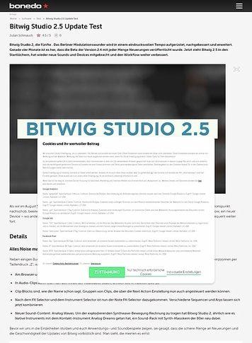Bonedo.de Bitwig Studio 2.5 Update