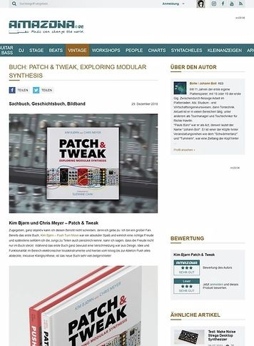 Amazona.de Buch: Patch & Tweak, Exploring Modular Synthesis