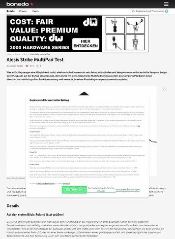 Bonedo.de Alesis Strike MultiPad