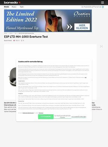 Bonedo.de ESP LTD MH-1000 Evertune