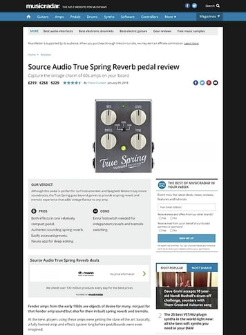 MusicRadar.com Source Audio True Spring Reverb