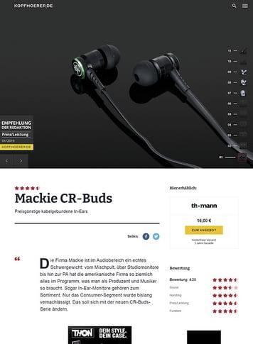 Kopfhoerer.de Mackie CR-BUDS