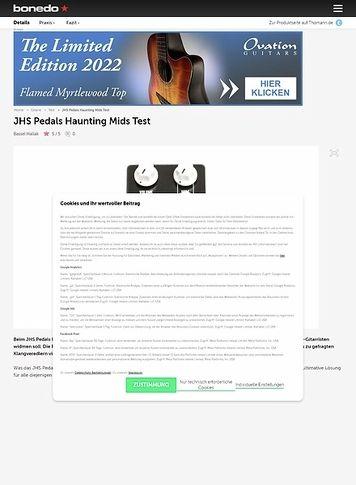 Bonedo.de JHS Pedals Haunting Mids