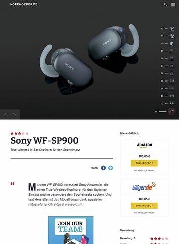 Kopfhoerer.de Sony WF-SP900 Black