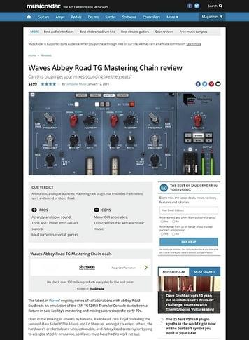 MusicRadar.com Waves Abbey Road TG Mastering Chain