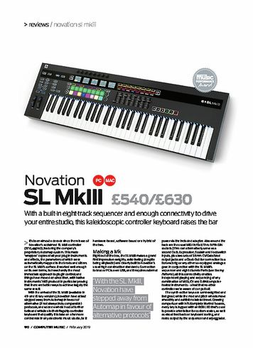Computer Music Novation SL mkiii