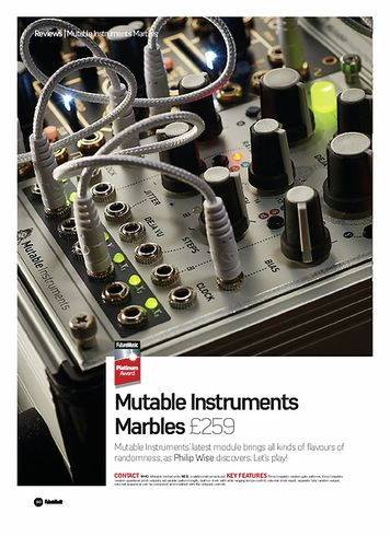 Future Music Mutable Instruments Marbles