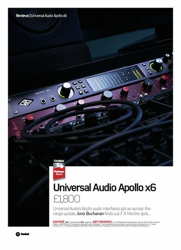 Future Music Universal Audio Apollo x6