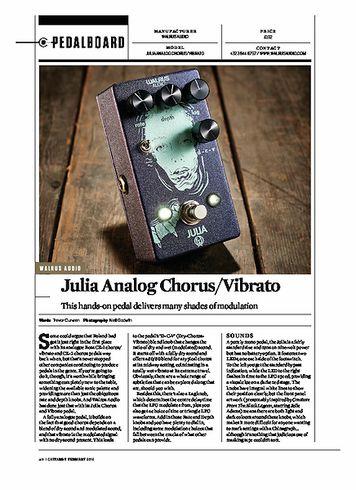 Guitarist Julia Analog Chorus/Vibrato