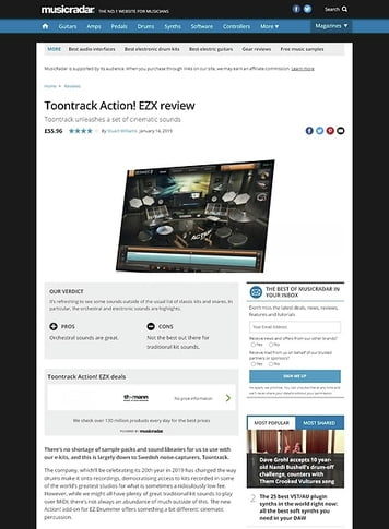 MusicRadar.com Toontrack Action! EZX