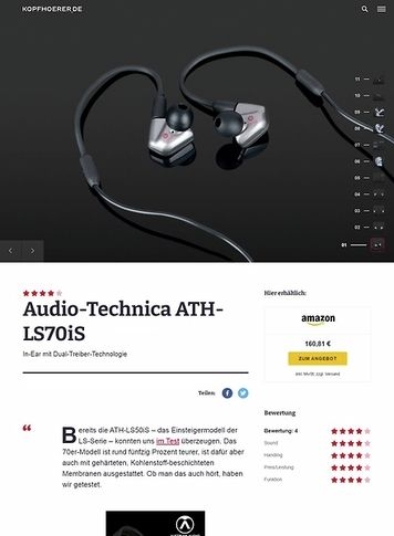 Kopfhoerer.de Audio-Technica ATH-LS70IS