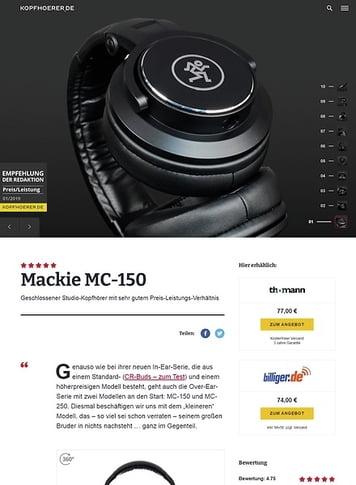 Kopfhoerer.de Mackie MC-150